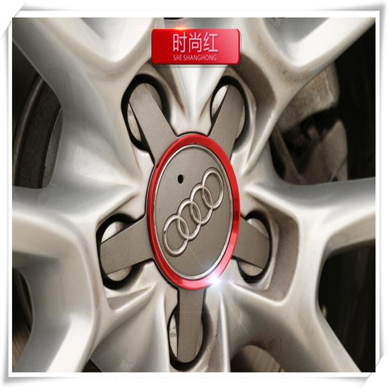 Car Styling Aluminum Alloy Wheel Hub Decorative Circle For Audi S4 B8 B9 A5 9T A6 C7 C8 A7 4G 5G A8 D4 D5 RS 5 RS6 C6 C7 RS 7(China)
