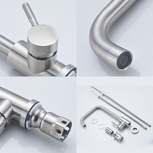 Image 5 - Kitchen Faucets 304 Stainless Steel Kitchen Mixer Single Handle Single Hole Kitchen Faucet Mixer Sink Tap Kitchen Faucet MO202