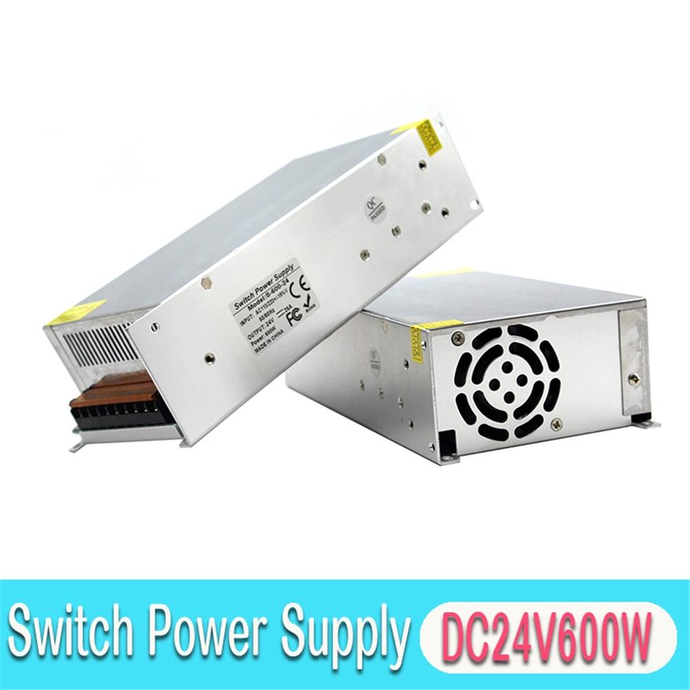 DC24V Power Supply 25A 600W Switch Power Adapter Driver Transformers 220V 110V AC to DC 24V SMPS For Led Light Lamp 3D Printer
