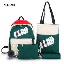School Bags for Teenagers Girls Schoolbag Large Capacity Ladies Printing Student Backpack Set Rucksack Bagpack Cute Book Bag5051