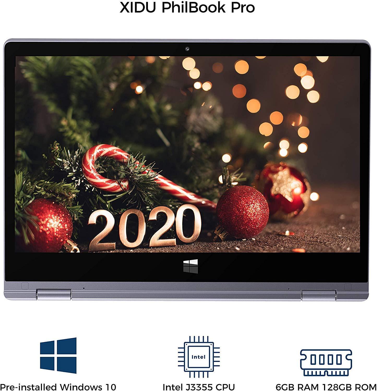 XIDU 2 in 1 Laptop 11.6 inch Notebook Window 10 Intel J3355 2.5K IPS 128GB ROM Computer 2 in 1 Tbalet  for Business Ultra Slim