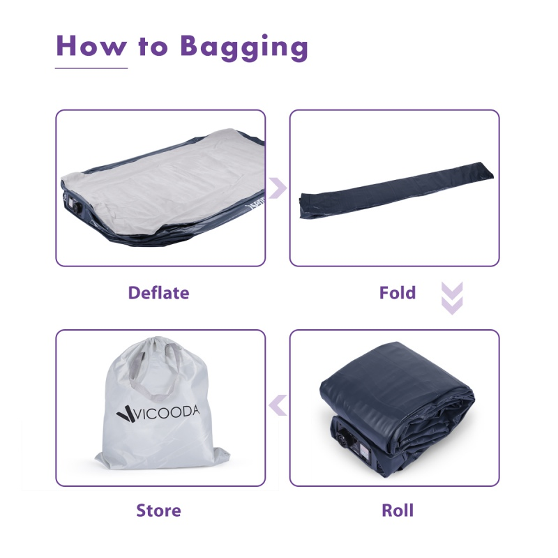 75*39*18 Inch Camping Mat Lazy Bag Inflatable Air Sofa Portable No Leakage Home Air Mattress Air Bed With Rechargeable Pump
