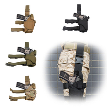 Scoutdoor Adjustable Right Drop Leg Tactical Army Pistol Gun Thigh Airsoft Holster Pouch for Glock 17 18