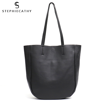 SC Luxury High Quality Leather Tote Large Women Shoulder Bags Genuine Italian Leather Fashion iPAD Laptop Lady Shopping Daily