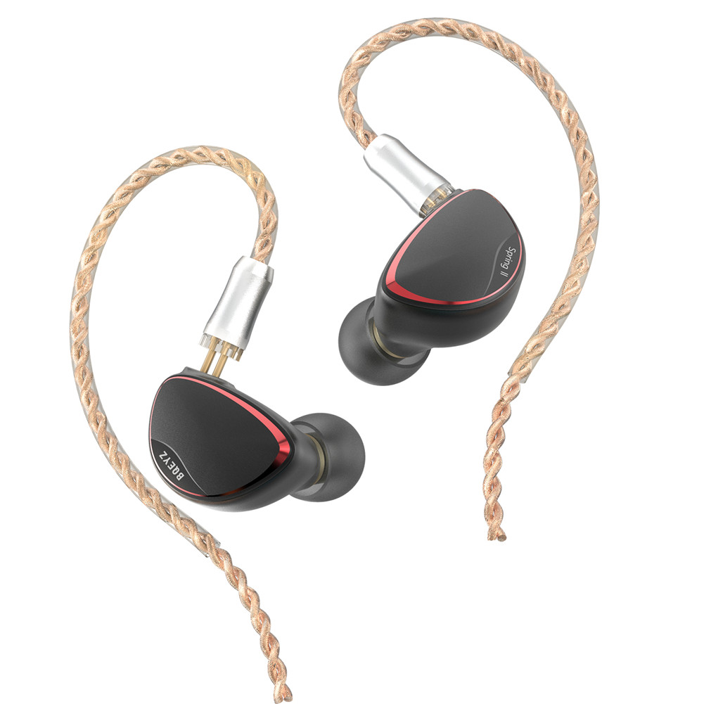 BQEYZ Spring 2 In-Ear Monitor Triple Hybrid BA Dynamic Driver Piezoelectric IEM HiFi with Detachable Cable for Noise Isolation