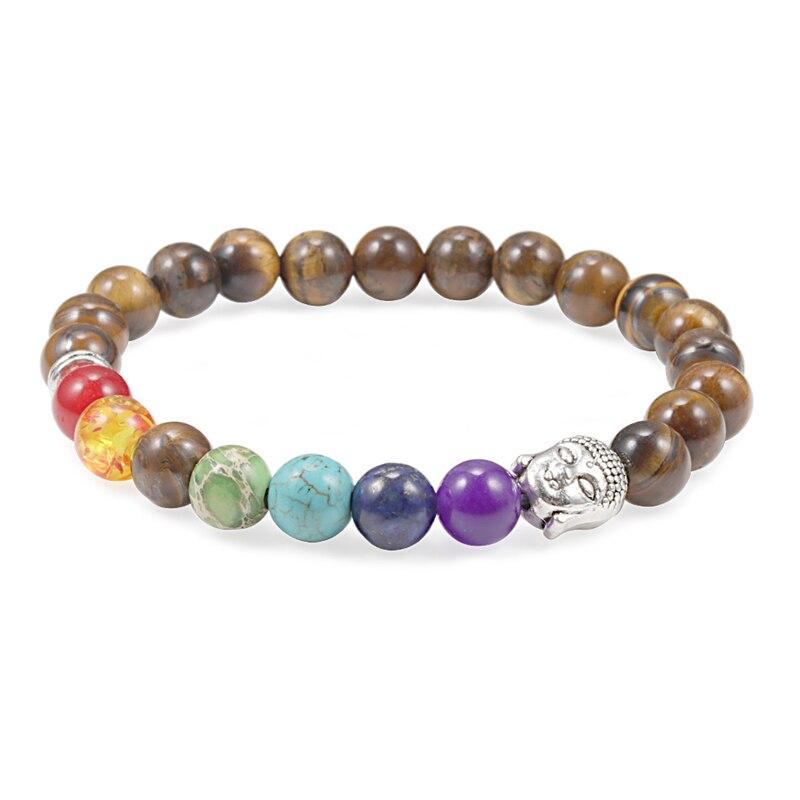 Natural Black Matte Lava Volcanic Stone 8mm Beads Reiki 7 Chakra Buddha Bracelet Charm Jewelry Women Men Prayer Bracelets Gifts