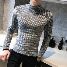 2019 New style Fashion Men autumn slim High collar