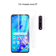 For Huawei nova 5T Camera Protection & Screen Protector HD Hydrogel Film Soft 3D Full Cover Curved Guard