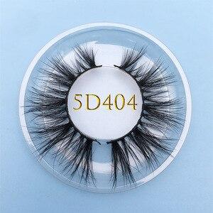 Image 2 - Bán buôn đặt hàng 50 cặp/lô logo tự do MIKIWI Hộp Tùy 24 Phong Cách mềm mại kịch tính kẻ Mắt 5D thực chồn tay dày lông mi
