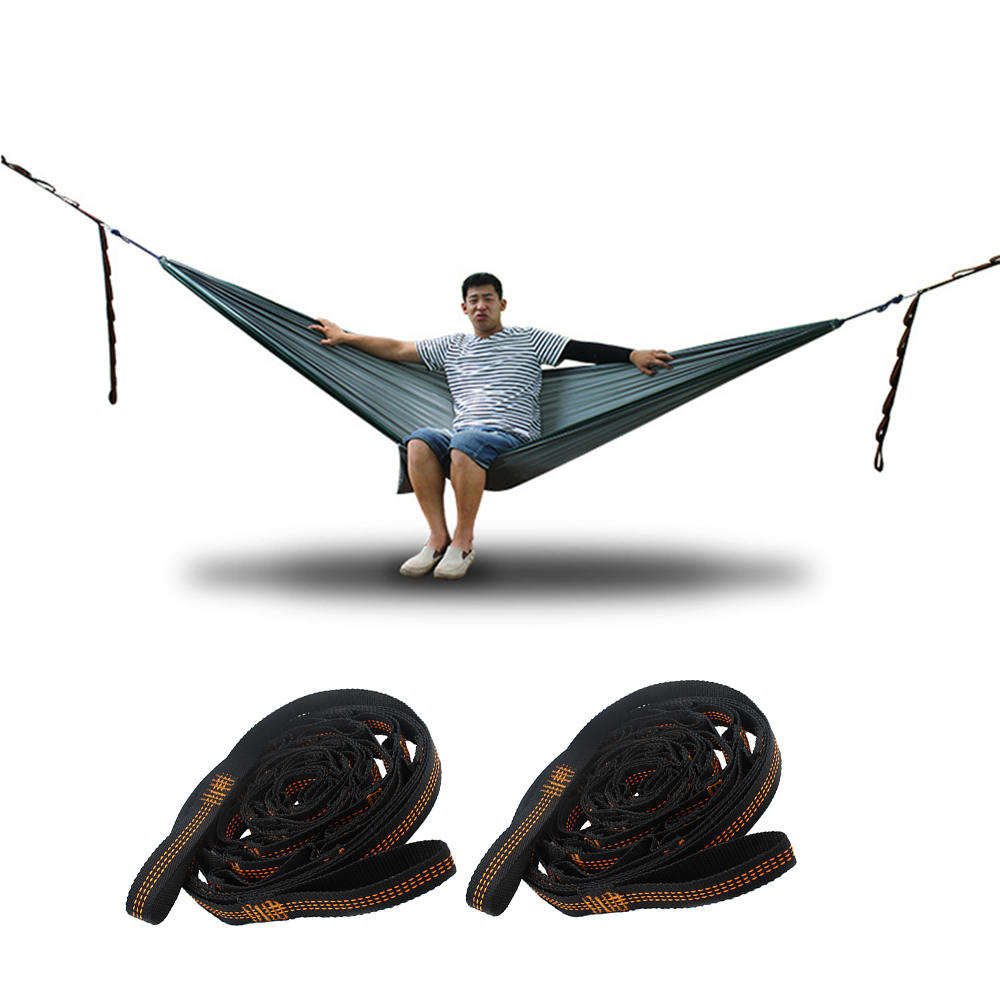 2pcs 3m Outdoor Adjustable Hammock Strap Hanging Tree Strap Rope Belt For Camping Traveling