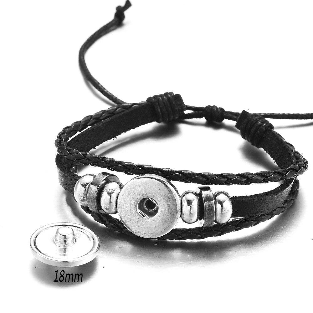 SONGDA Naruto Shippuden Anime Leather Bracelet Uchiha Sasuke Icon Glass Round Photo Handmade Beaded Bracelets Fashion Fans Gift 5