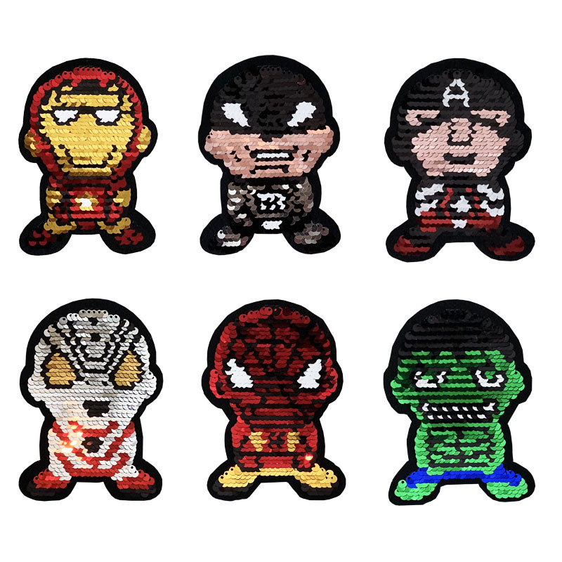 Beads Embroidered Avengers League Altman Can Flip Sequins Cloth Sticker Clothing Auxiliary