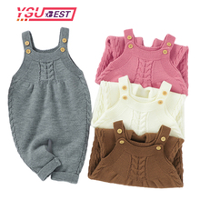 Outfits Jumpsuits Sweaters Baby Rompers Knitted Newborn Toddler Infant Girls Kids Winter