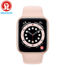 SHAOLIN Original Smart Uhr Serie 6 Bluetooth Handgelenk Smartwatch für Apple Uhr iOS iPhone Samsung Android Telefon (Rot Taste)