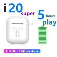I20 super TWS 1:1 Реплика Super power 5h i30tws беспроводные наушники 6D Super Bass i20tws Bluetooth 5,0 pk W1 чип tws