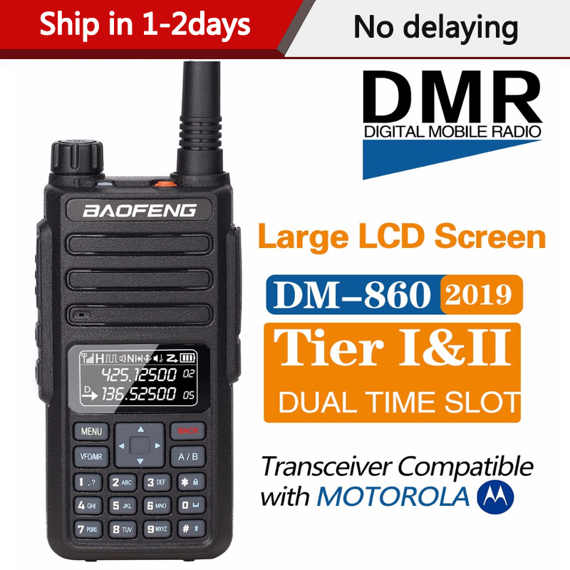 2020 Baofeng DM 860 Digital Walkie Talkie DMR Tier1 Tier2 Tier II  Dual time slot Digital  Radio Compatible With Motorola DM 1801Walkie  Talkie