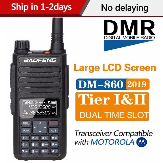 2020 Baofeng DM 860 Digital Walkie Talkie DMR Tier1 Tier2 Tier II Dual time slot Digital  Radio Compatible With Motorola DM 1801