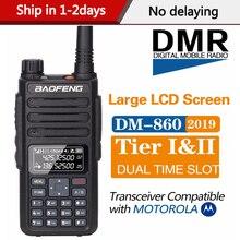 Baofeng Walkie Talkie Digital DM 860, DMR Tier1 Tier2 Tier II, ranura de tiempo, Radio Digital Dual, Compatible con Motorola DM 1801, 2020