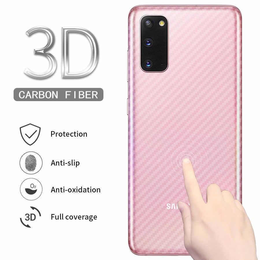 5 unids/lote 3D de fibra de carbono protector de pantalla trasero para Samsung Galaxy A3 A5 A7 A8 A9 A6 2016 de 2017, 2018 de cubierta No de vidrio