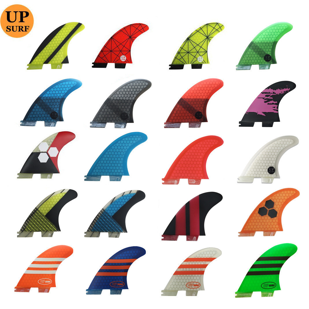 Surfing FCS2 Fin G5 3pcs Per Set Honeycomb Fibreglass FCSII  Fin Fiber Glass Tri Fin Set