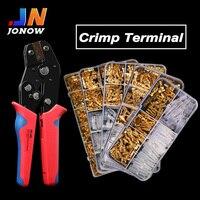 2,8/4,8/6,3mm Spade conector de Terminal para crimpar de oro Universal sello tapón para muelle alambre eléctrico aislado con conectores SN48B kit