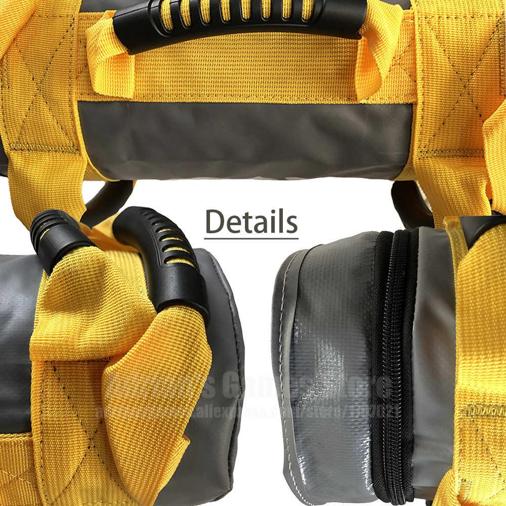 TANOU Weight Sandbag Boxing Fitness Workout Multi-Functional Training Sand Bag High Intensity Exercises Power Bag 15Kg