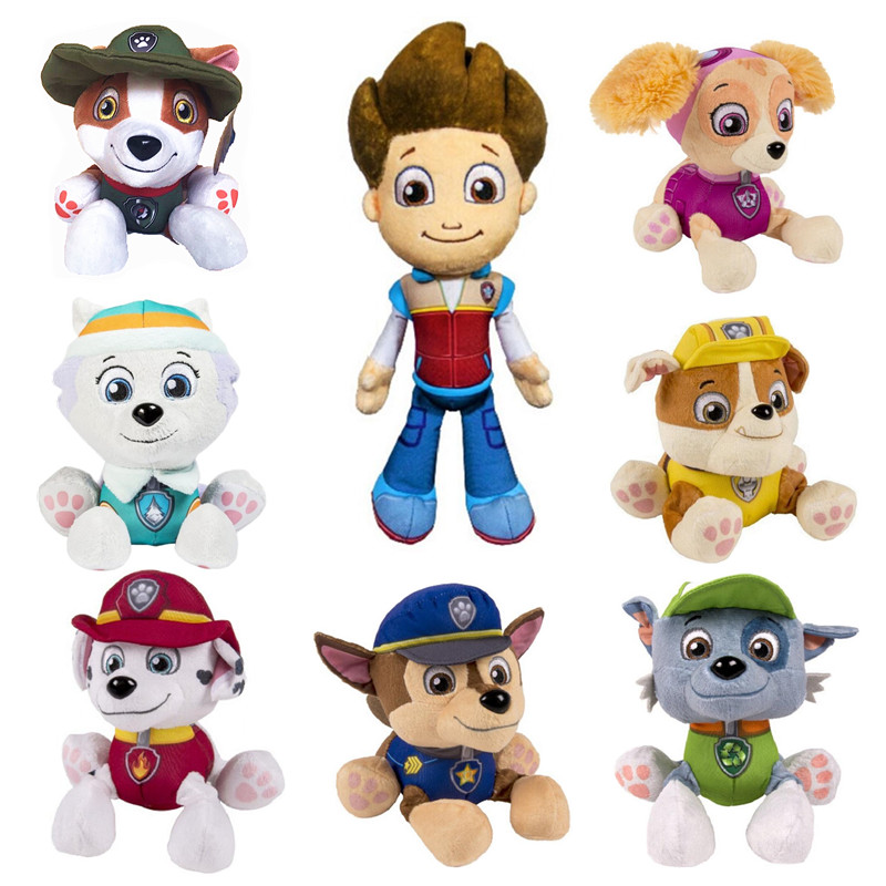 Paw סיירת כלב בפלאש צעצוע psi סיירת ריידר אוורסט ילדים של צעצוע paw סיירת צעצוע קטיפה ילד ילד ילדה יום הולדת חג המולד מתנה