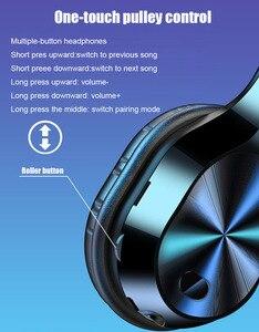 Image 2 - 3.5mm Jack HIFI stereo kablosuz kulaklık bluetooth kulaklık müzik kulaklık desteği SD TF kart mic için xiaomi smartphone tabletler