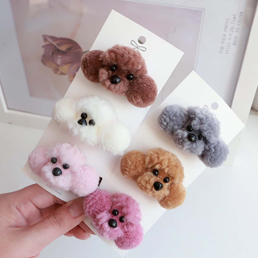 1pc-new-cute-plush-dog-hair-rope-korean-cartoon-popular-cloth-hair-clips-elastic-hair-rope-baby-children-3d-hair-accessories