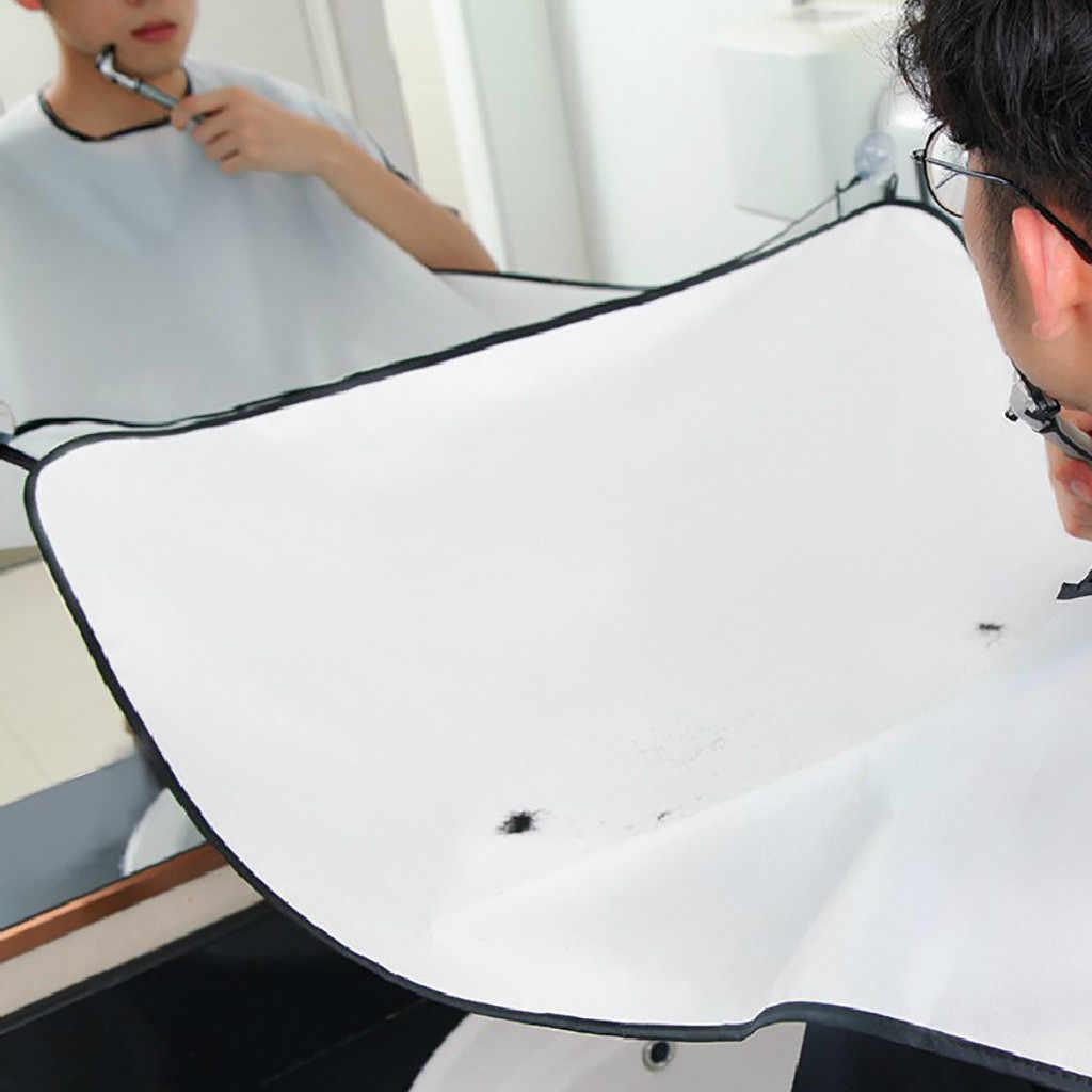 ユニセックスひげあごひげシェービング散髪エプロンキャッチャー岬 2 吸盤でひげヘアケアクリーン # L5