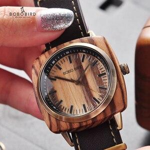 Image 5 - BOBOBIRD роскошные часы из дерева зебры, женские и мужские модные наручные часы, часы Erkek Kol Saati с подарочной коробкой, возможен индивидуальный логотип, на заказ, на заказ, с логотипом, на заказ, на заказ