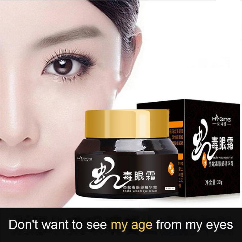 Snake-venom Eye Cream Nourishing Removal Dark Circle Eyes Bags Lifting Firming Relax Smooth Eye Care Cream 30g