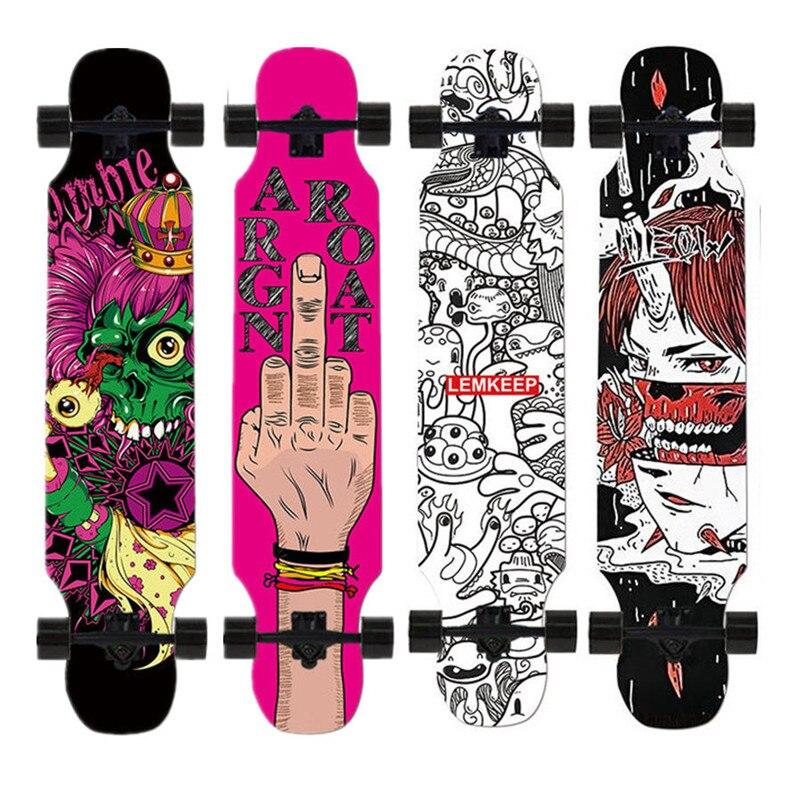 Highway Longboard Dancing Street Freestyle Long Skateboard Deck 4 Wheels Adults Skate Longboard