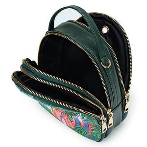 Image 3 - Fashion Cartoon Printing Women Handbag High Quality PU Leather Shoulder Bag Ladies 3 Deck Cartoon Pattern Back Pack For Teenager