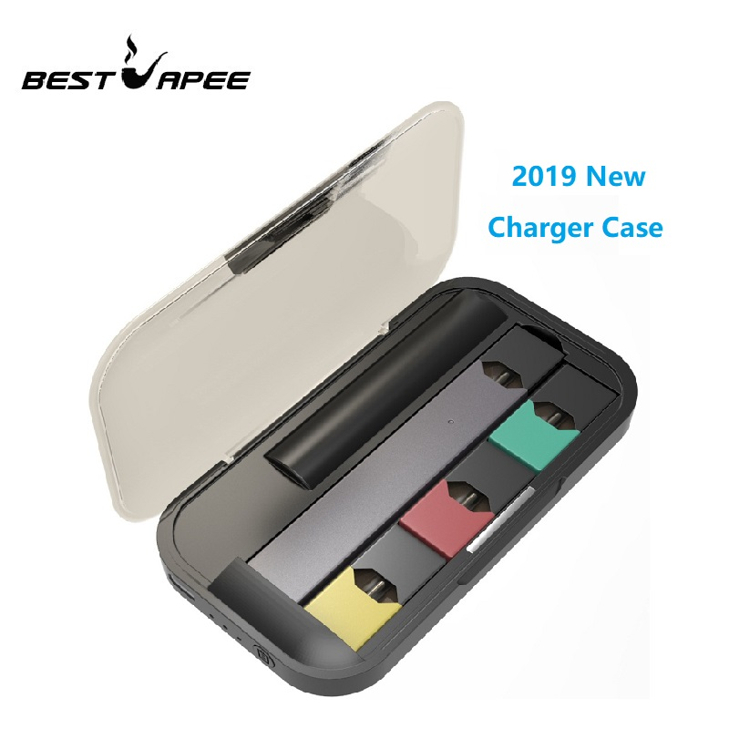 Latest E-Cigarette Charger For JUUL Vape Kit 1200mAh Portable Charging Case Pods Holder Portable USB Chargers Mini Case For JUUL