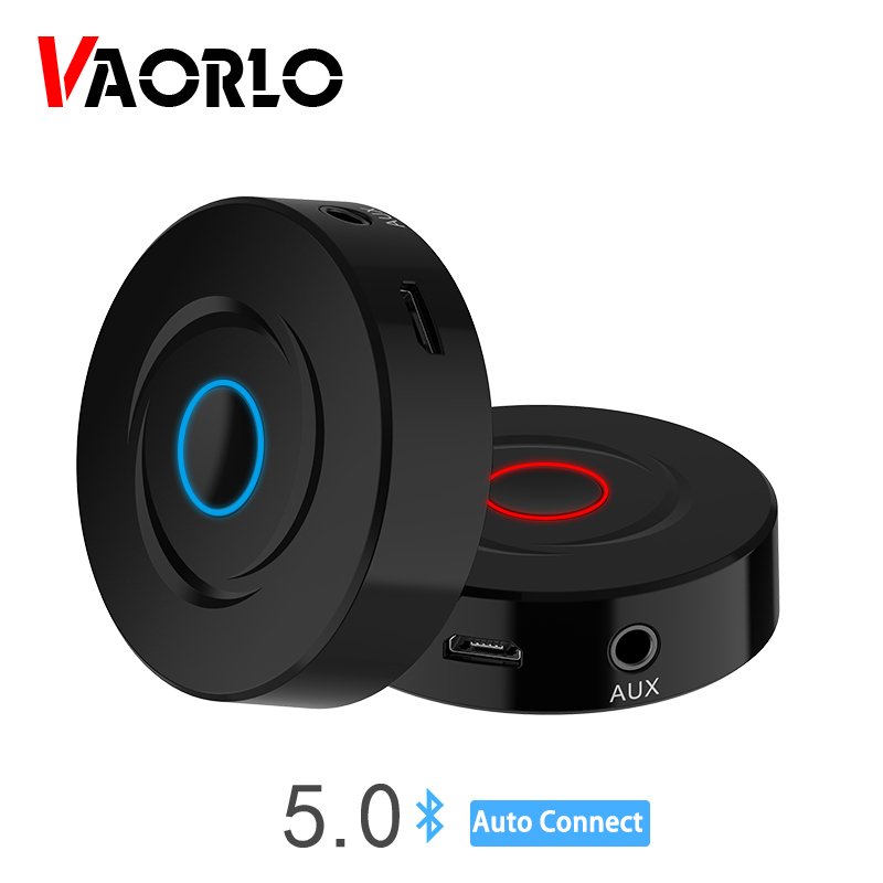 2 IN 1 5.0 <font><b>Bluetooth</b></font> <font><b>Receiver</b></font> Transmitter 3.5mm AUX Stereo Audio Round Wireless <font><b>Bluetooth</b></font> Adapter For Car TV PC Speaker Earphone image