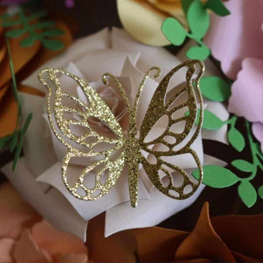 4 шт. бабочка с металлическим тиснением творческая головоломка разработка нож плесень индивидуальность нож из углеродистой стали режущие штампы