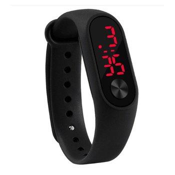 Модные уличные простые спортивные красные светодиодные цифровые часы-браслет для мужчин и женщин, цветные силиконовые часы, детские наручн...