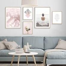 Цветочный холст живопись куадросы декорацион салон Цитата плакаты