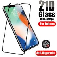 Vidrio templado para iPhone 12 Pro Max Protector de pantalla 11 10 8 7 6 6 S Plus X Xs X Xr SE 2020 Mini 11Pro 12Pro 8Plus Apple iPhone12
