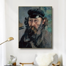 Canvas Art Oil Painting《Self-Portrait in a Casquette》Paul Cezanne Art Poster Wall Decor Modern Home Decoration For Living room cezanne
