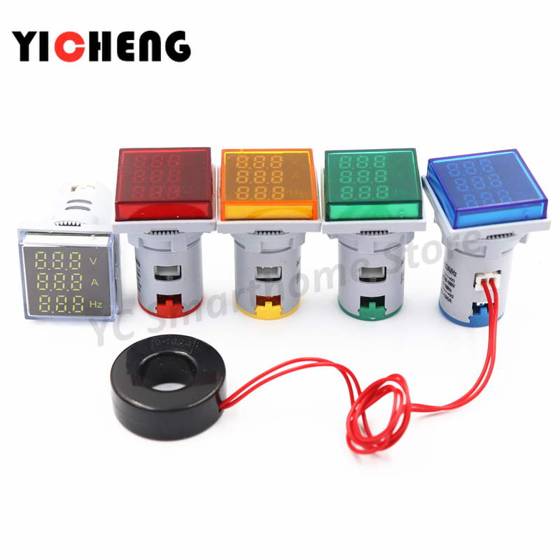 Square LED Digital Display Three-digit Display Voltage And Current Hertz Meter Signal Combination Table Indicator Tester