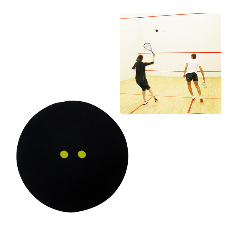 Competition Squash Ball Two-Yellow Dots Low Speed Official Sports Balls