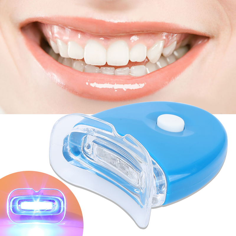 8Pcs/4Pairs Daily Life  Advanced Oral Care Teeth Whitening Strips/1Pc Easy Use Dental Treatment Teeth Whitening LED Light TSLM2