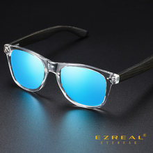 Zeroal черные бамбуковые солнцезащитные очки поляризованные