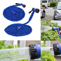 25FT Garden Hose Expandable Flexible Plastic Hoses Water Pipe with Sprayer for Car Garden Watering Supplies Drop Shipping