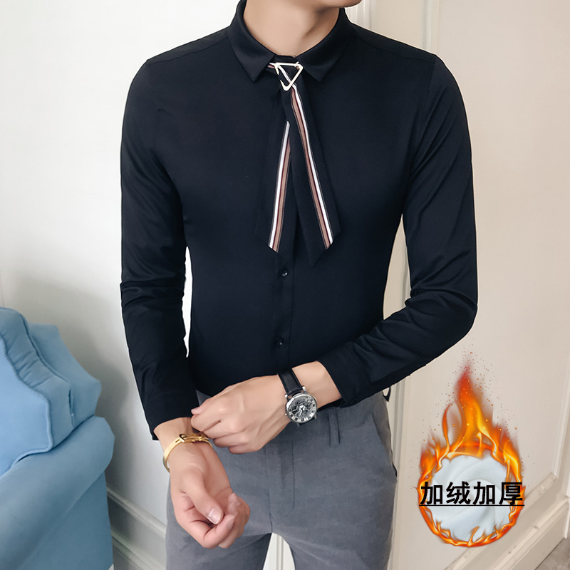 men Fashion white tuxedo shirt   1