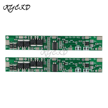 BMS 7S 24V 5A 10A 18650 Li-ion Lithium Battery Charger Protection Board PCB Battery BMS For Drill Power Bank Cell Charging image