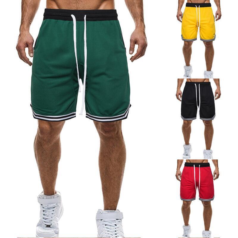 Summer New Men's Trend Basketball Shorts Fashion Casual Sports Plus Size Shorts Mesh Breathable Basketball Sports Shorts