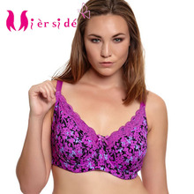 Mierside 953P Push Up Bra Plus size Sexy Large Bra lingerie Lace Underwear for Women Everyday Bralette 34 46 C/D/DD/DDD/E/F/G